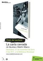 Club de lectura adults: La carta cerrada, de Gustavo Martín Garzo