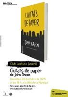 Club de lectura juvenil. Ciutats de Paper, de John Green