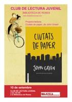 """Club de lectura juvenil """"Ciutats de paper"""""""