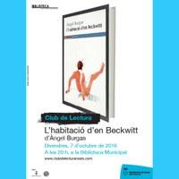 Club de lectura: L'habitació d'en Beckwitt amb l'autor Àngel Burgas