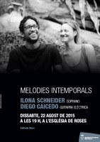 "Concert:""Melodies intemporals"", a càrrec d'Ilona Schneider i Diego Caicedo"