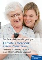 """Conferència per a la gent gran: """"Què cal fer amb el mòbil i Facebook"""", a càrrec d'Edgar Tarrés"""