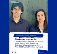 """Conmemoració """"Any Bertrana"""": Bertrana comentat"""