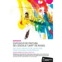 Inauguració exposició de pintura de l'escola l'Art de Roses