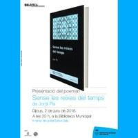 """Presentació del llibre de poemes """"Sense les reixes del temps"""""""