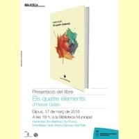 Presentació del poemari Els Quatre elements, d'Henar Galan
