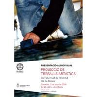 Projecció de treballs artístics - Alumnat de l'IES Illa de Rodes