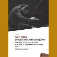 Solo Piano, concert de piano de Carlos Bianchini