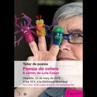 Taller: Poesia de Colors. A càrrec de Lola Casas.