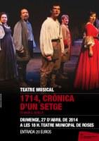 """Teatre musical. """"1714, Crònica d'un setge"""""""
