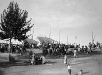 Arribada barques després jornada de pesca. Entre 1888-1915