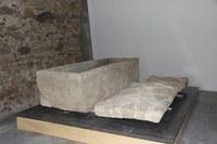 El sarcòfag exposat al Museu