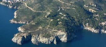 Vista general del paratge de Punta Falconera