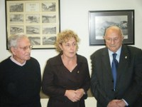 Homenatge del Casal d'avis al Sr. Joaquim Fontdecaba amb motiu del lliurament de la Medalla al Treball. 5 desembre de 2008.