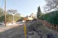 Inici obres carrer Baix Camp