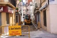 Inici obres carrer Sant Sebastià