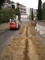 Inici obres enllumenat Puig Rom