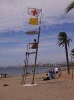 La torre de vigilància de la platja del Rastrell
