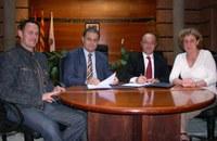 L'acte de signatura del conveni