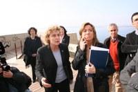 Magda amb la ministra Carme Chacon