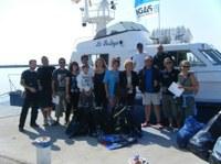 Neteja del fons marí a Roses. 27 de setembre de 2008.