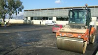 obres asfaltatge aparcament Piscina