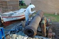 Procés restauració canó
