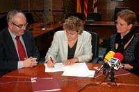 Signatura conveni Ajuntament, Dipsalut, Fundació