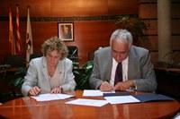 Signatura conveni Roses-Céret