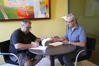 Signatura conveni subvenció