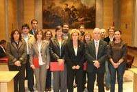 Signatura dels convenis amb les entitats gironines del desplegament de la Xarxa d'Agents d'Igualtat. Diputació de Girona 23 d'octubre de 2008.