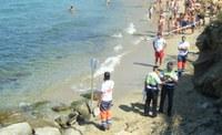 simulacre a la platja dels Palangrers