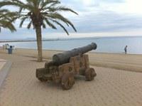 Un dels canons instal·lats