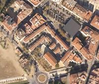 Una imatge aèria del barri