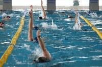 Una imatge de l'estada de clubs esportius a la piscina