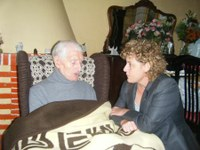 Visita al senyor Joan Pous amb motiu del seu 102è aniversari. 8 de novembre de 2008.