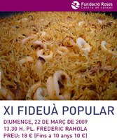 XI Fideuà Popular