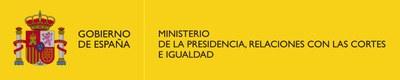 Logo Ministerio de la Presidencia, Relaciones con las Cortes e Igualdad color