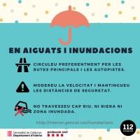 Activat Pla INUNCAT: seguiu les recomanacions