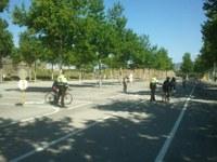 Alumnes de centres escolars de Roses fan pràctiques d'educació vial i viària amb la Policia Local