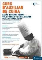 Després de l'èxit del curs de cambrers, l'Ajuntament de Roses ofereix un nou curs d'auxiliar de cuina