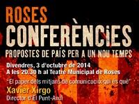 El director d'El Punt-Avui, Xavier Xirgo, al cicle de conferències de Roses