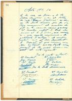 El llibre d'actes de la Mútua Obrera de Roses, document del mes de l'AMR