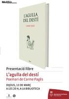 """El llibre de poemes """"L'agulla del destí"""", presentació de la Biblioteca de Roses en el mes dedicat a la poesia"""