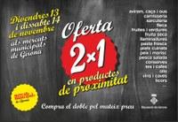 El  Mercat de Roses participarà en la primera campanya conjunta 2x1 destinada a potenciar el producte de proximitat