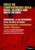"""El president de l'Ateneu Barcelonès, Jordi Casassas, clou el cicle """"Roses, un poble amb molta història"""""""