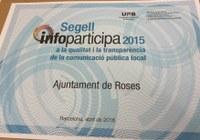 El web municipal de Roses, reconegut amb el Segell InfoParticipa a la qualitat i transparència
