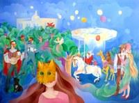 Elena Kudryashova  exposa a la Ciutadella de Roses