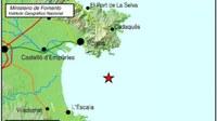 Els darrers mesuraments del terratrèmol d'aquesta nit, li donen una intensitat de 4,3 graus