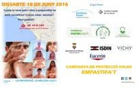 Fundació Roses contra el Càncer continua la campanya per promoure l'ús de protectors solars contra el càncer de pell